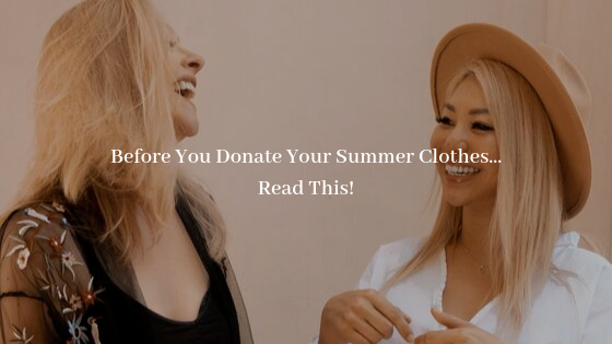 donate summer clothes