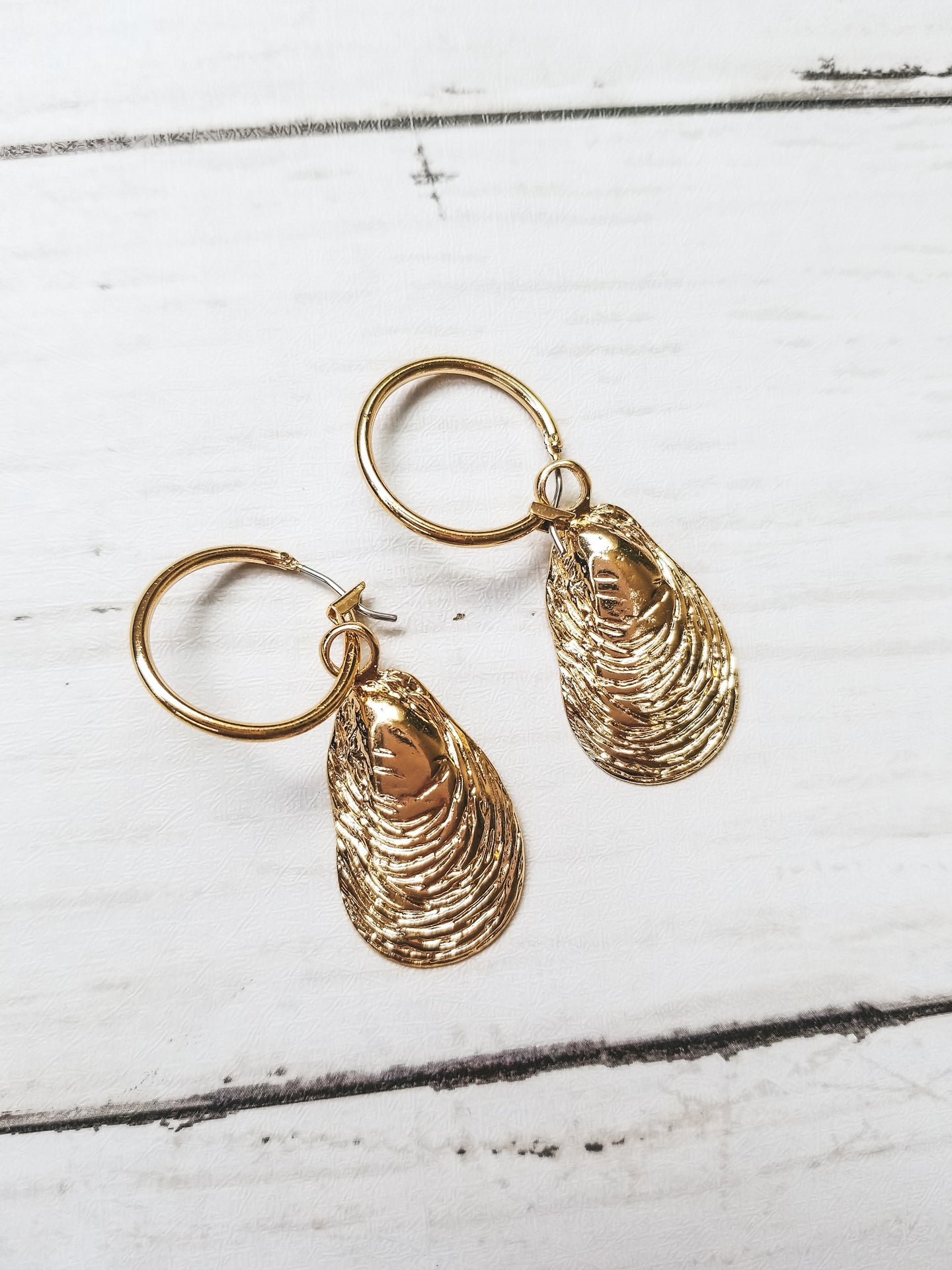 Calafia Gold Shell Earrings - West Canada Co