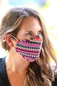 Adult Fashion Filter Fabric Face Mask
