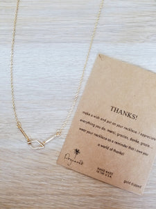 Thank You Necklace with message card