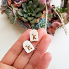Load image into Gallery viewer, Gold Initial Earrings
