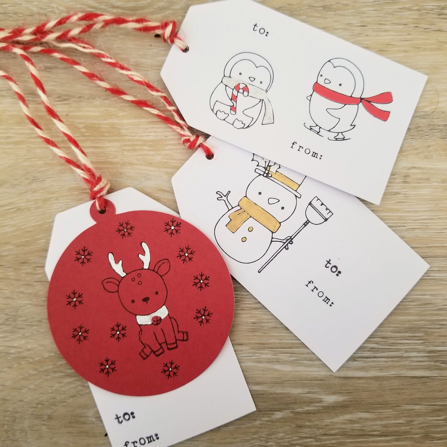 Hanmade Winter Gift Tags (Set of 3)