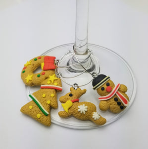 Holiday Wine Glass Charm Set of 4