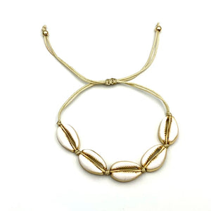 Marquita White and Gold Shell Bracelet