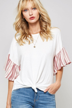 Load image into Gallery viewer, Coastal Flare Sleeve Top - West Canada Co