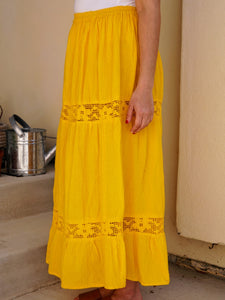 Elvia Sustainable Bright Yellow Skirt