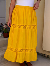 Load image into Gallery viewer, Elvia Sustainable Bright Yellow Skirt