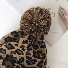 Load image into Gallery viewer, Pompom Leopard Beanies