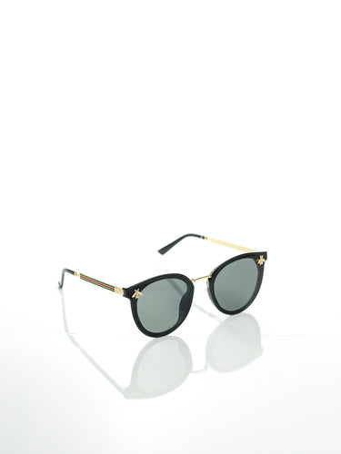Golden Bee Black and Gold Sunglasses