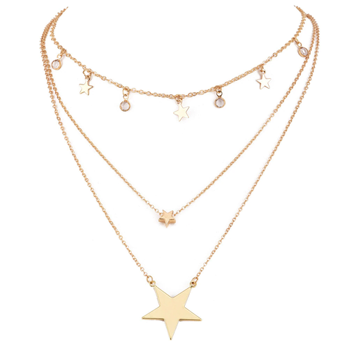 Gold Layered Star Necklace - West Canada Co