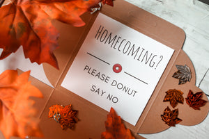 Homecoming Proposal Donut Box
