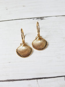 Gold Shell Earrings - West Canada Co