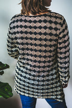Load image into Gallery viewer, Milan Black and Silver 3/4 Sleeve Top