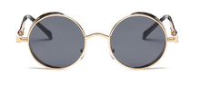 Load image into Gallery viewer, Retro Black And Gold Round Sunglasses - West Canada Co