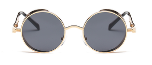 Retro Black And Gold Round Sunglasses - West Canada Co