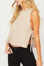 Load image into Gallery viewer, Sadie Taupe Tie Knit Top