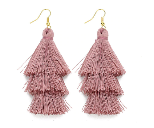 Tassel-Me-Pink Earrings - West Canada Co
