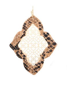 Snake Print Moroccan Drop Earrings