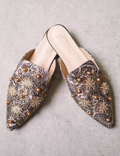 Liberace Beaded Slip-On Mule