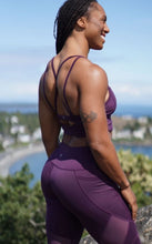 Load image into Gallery viewer, Sustainable Plum High-Rise Mesh Legging