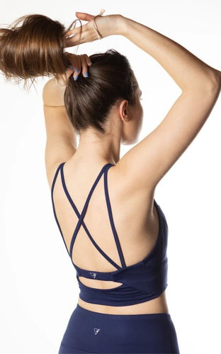 Sustainable Navy Sports Bra Top