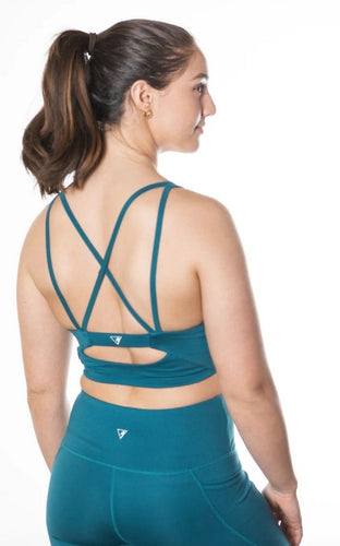 Sustainable Pacific Blue Sports Bra Top