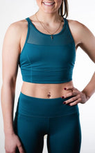 Load image into Gallery viewer, Sustainable Pacific Blue Sports Bra Top