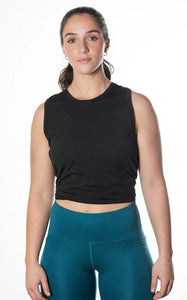 Sustainable Black Tidal Flow Tank Top