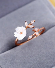 Load image into Gallery viewer, Rose Gold Flower Branch Ring