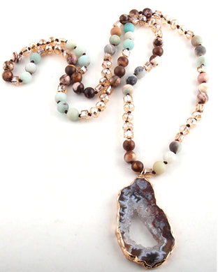Bohemian Stone Necklace