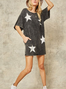 Vintage Free Star Mini Dress