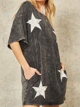 Load image into Gallery viewer, Vintage Free Star Mini Dress