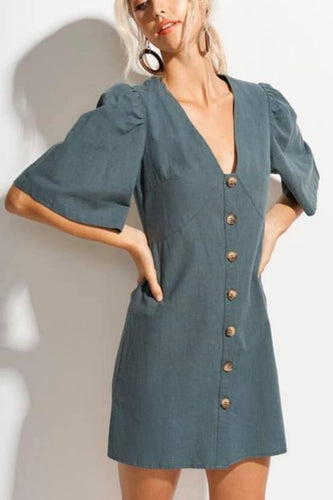 Market Linen Mini Dress