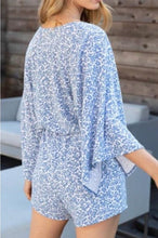 Load image into Gallery viewer, Athens Bell Sleeve Blue Romper