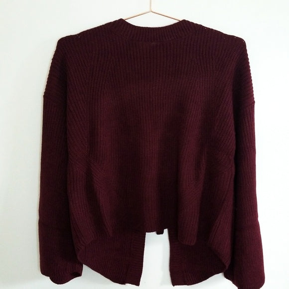 Berry Best Tie Back Sweater