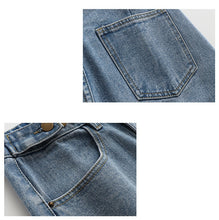 Load image into Gallery viewer, Adjustable High Waisted Denim Shorts - West Canada Co
