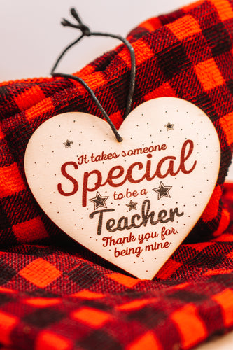 Special Teacher Wood Ornament