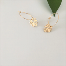 Load image into Gallery viewer, Tropical Gold Leaf Earrings - West Canada Co