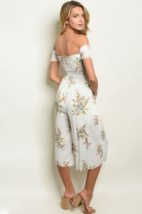 Wild Flower White Floral Jumpsuit - West Canada Co