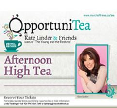 Proud Collaboration with the March of Dimes OpportuniTEA with Kate Lindor
