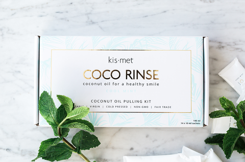 Coco Rinse 14 day Organic Coconut Oil Pulling Kit