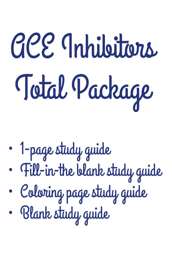 ACE Inhibitor (Total Package)