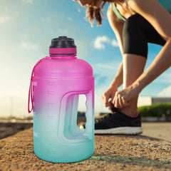 2.2L Motivational Water Bottle Time Marker