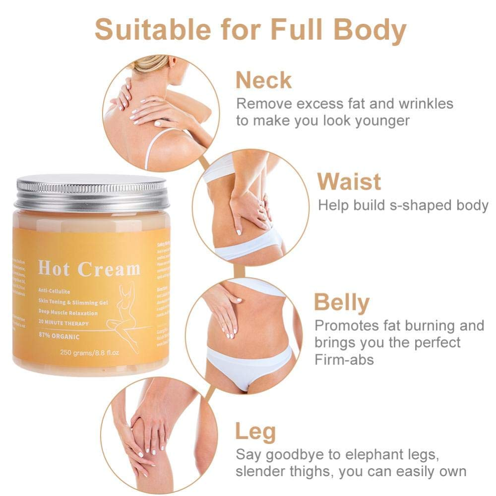 Anti Cellulite Hot Cream Body Massager Gel