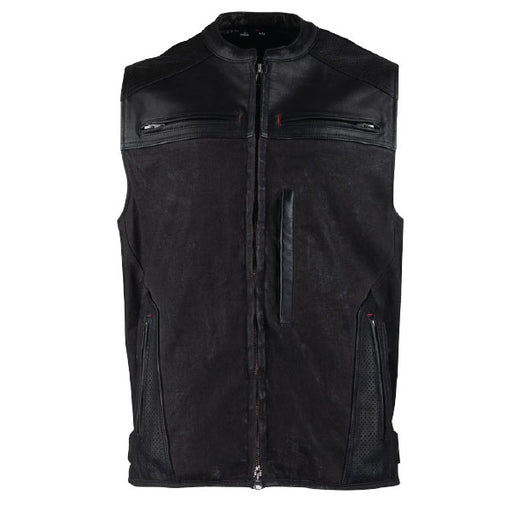 Speed And Strength, Tough As Nails Leather/Waxed Canvas Vest