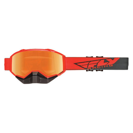 FLY RACING FOCUS SNOW GOGGLE ORANGE/GREY WITH MIRRORED LENS