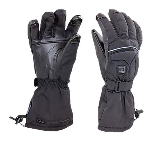 Heated Nylon/Leather Gloves