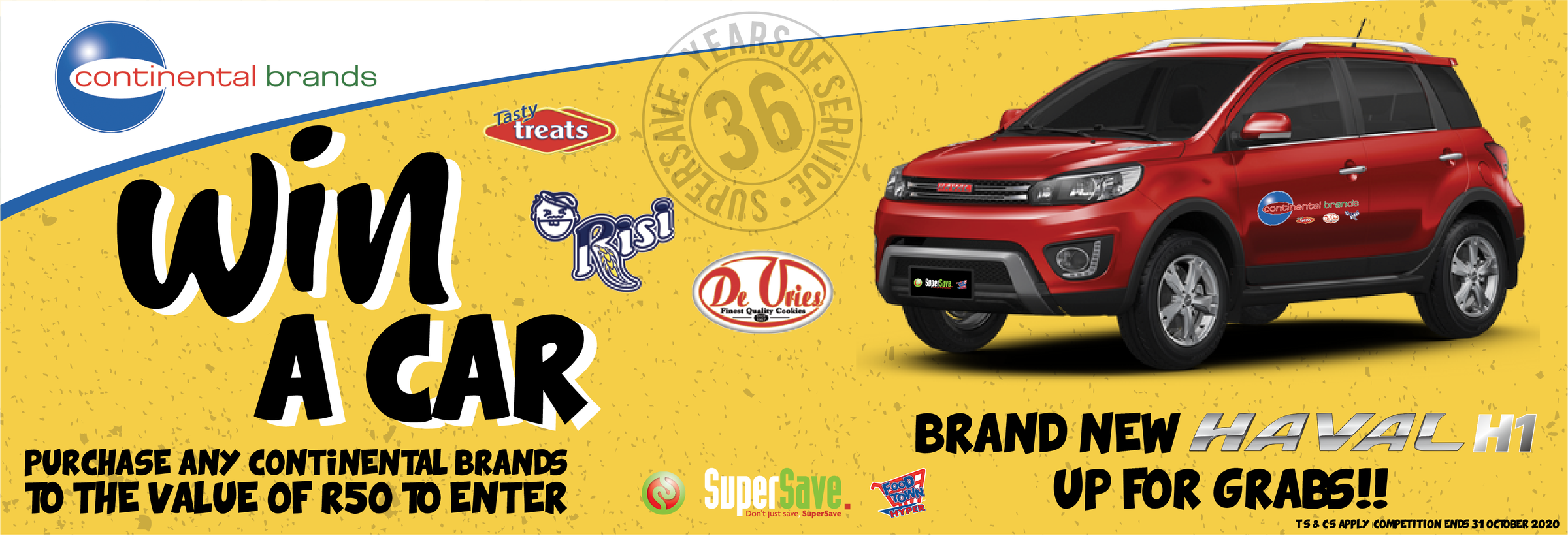 Supersave website banner win a car 01