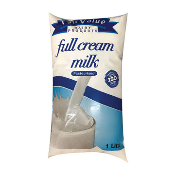 Fair Value Full Cream Milk Sachet 1lt