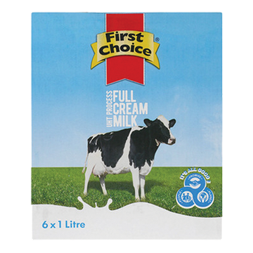First Choice Long Life Milk 6x1lt